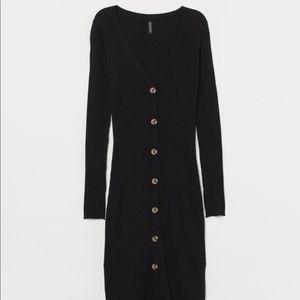 H&M Ribbed Black Dress
